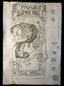 Francesco Capponi - disegno preliminare per locandina